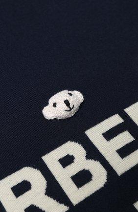 Детского шерстяное одеяло BURBERRY темно-синего цвета, арт. 8017912 | Фото 2