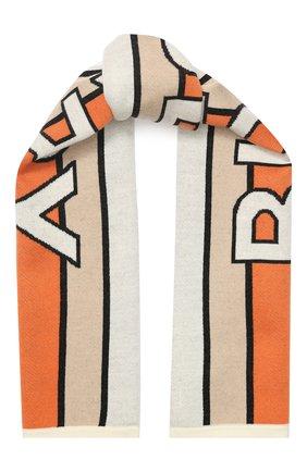 Детский шерстяной шарф BURBERRY разноцветного цвета, арт. 8023671 | Фото 1