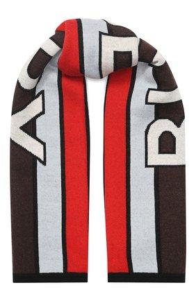 Детский шерстяной шарф BURBERRY разноцветного цвета, арт. 8023670 | Фото 1