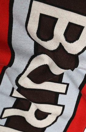 Детский шерстяной шарф BURBERRY разноцветного цвета, арт. 8023670 | Фото 2