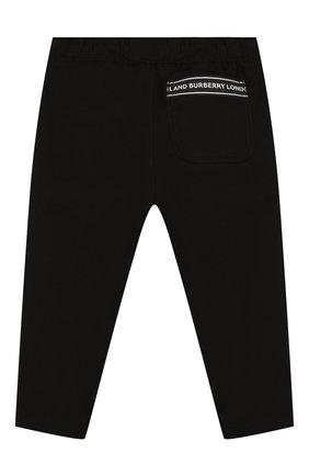 Детские хлопковые брюки BURBERRY черного цвета, арт. 8022352 | Фото 2