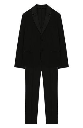 Детский шерстяной костюм EMPORIO ARMANI черного цвета, арт. 3H4VJ8/4N3FZ | Фото 1