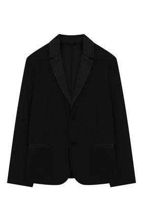 Детский шерстяной костюм EMPORIO ARMANI черного цвета, арт. 3H4VJ8/4N3FZ | Фото 2