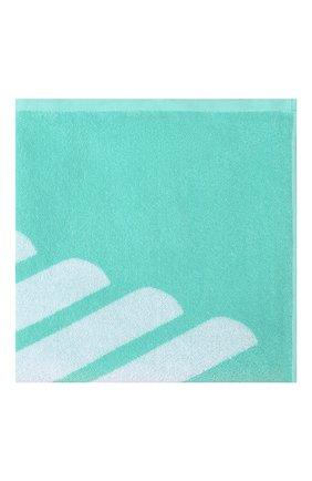 Детского хлопковое полотенце EMPORIO ARMANI бирюзового цвета, арт. 408509/0P219 | Фото 2