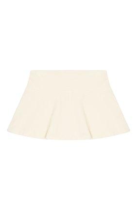 Детская хлопковая юбка BRUNELLO CUCINELLI бежевого цвета, арт. BA121G2884 | Фото 1
