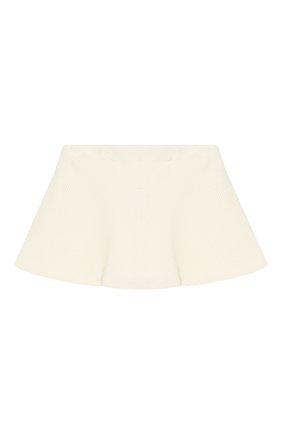 Детская хлопковая юбка BRUNELLO CUCINELLI бежевого цвета, арт. BA121G2884 | Фото 2