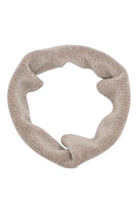 Детский шарф-снуд BRUNELLO CUCINELLI бежевого цвета, арт. B5V500579A | Фото 1