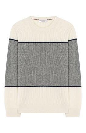 Детский кашемировый пуловер BRUNELLO CUCINELLI разноцветного цвета, арт. B2215300B | Фото 1