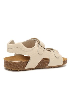 Детские кожаные сандалии IL GUFO бежевого цвета, арт. G550/VITELL0 CERV0/31-34 | Фото 3 (Материал внутренний: Натуральная кожа; Статус проверки: Проверена категория)