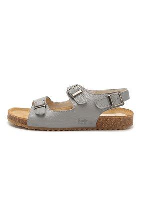 Детские кожаные сандалии IL GUFO серого цвета, арт. G565/VITELL0 CERV0/35-42 | Фото 2