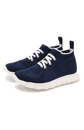 Детские текстильные кроссовки IL GUFO синего цвета, арт. G803/CALZIN0/31-34 | Фото 1