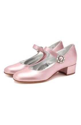 Детские кожаные туфли MISSOURI розового цвета, арт. 78031/35-41 | Фото 1