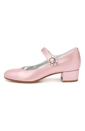 Детские кожаные туфли MISSOURI розового цвета, арт. 78031/35-41 | Фото 2