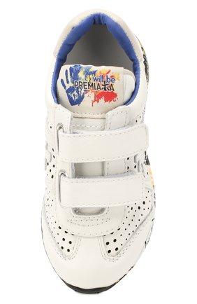 Детские кожаные кроссовки PREMIATA WILL BE белого цвета, арт. LUCY V/1217/CHILD | Фото 4 (Материал внутренний: Натуральная кожа; Стили: Гранж; Кросс-КТ: велькро; Статус проверки: Проверена категория)