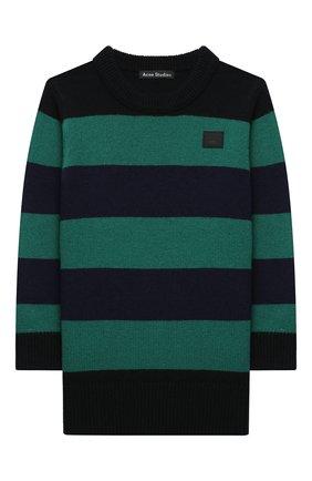 Детский шерстяной пуловер ACNE STUDIOS разноцветного цвета, арт. D60008 | Фото 1