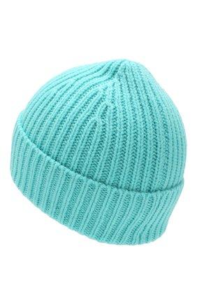 Детского шерстяная шапка ACNE STUDIOS бирюзового цвета, арт. D40001 | Фото 2