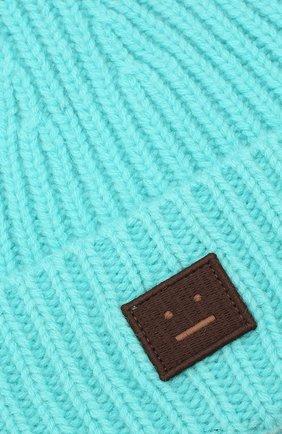 Детского шерстяная шапка ACNE STUDIOS бирюзового цвета, арт. D40001 | Фото 3
