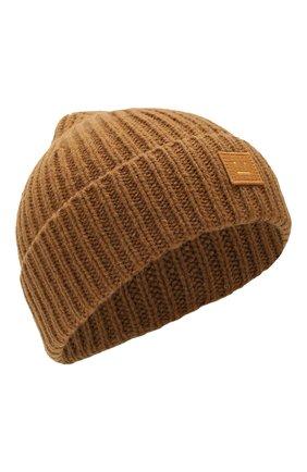 Детского шерстяная шапка ACNE STUDIOS коричневого цвета, арт. D40001 | Фото 1