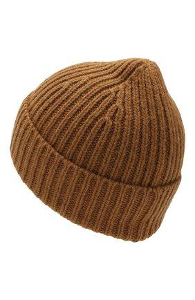 Детского шерстяная шапка ACNE STUDIOS коричневого цвета, арт. D40001 | Фото 2