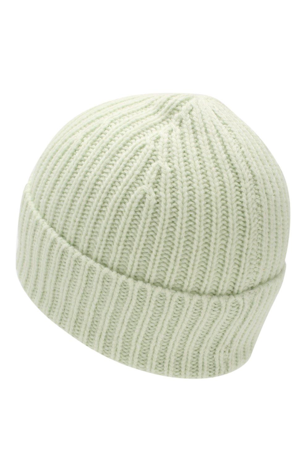 Детского шерстяная шапка ACNE STUDIOS светло-зеленого цвета, арт. D40001   Фото 2 (Материал: Шерсть)