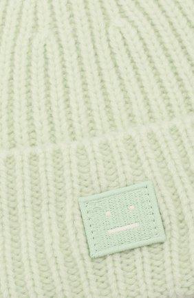 Детского шерстяная шапка ACNE STUDIOS светло-зеленого цвета, арт. D40001   Фото 3 (Материал: Шерсть)