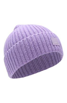 Детского шерстяная шапка ACNE STUDIOS фиолетового цвета, арт. D40001 | Фото 1
