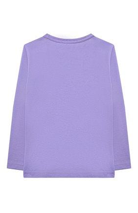 Детская хлопковый лонгслив ACNE STUDIOS фиолетового цвета, арт. 2NI173 | Фото 2