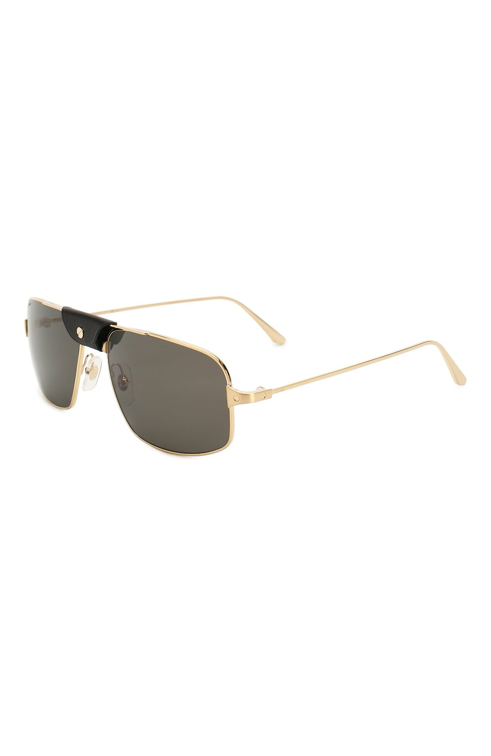 Мужские солнцезащитные очки CARTIER золотого цвета, арт. CT0193 001 | Фото 1