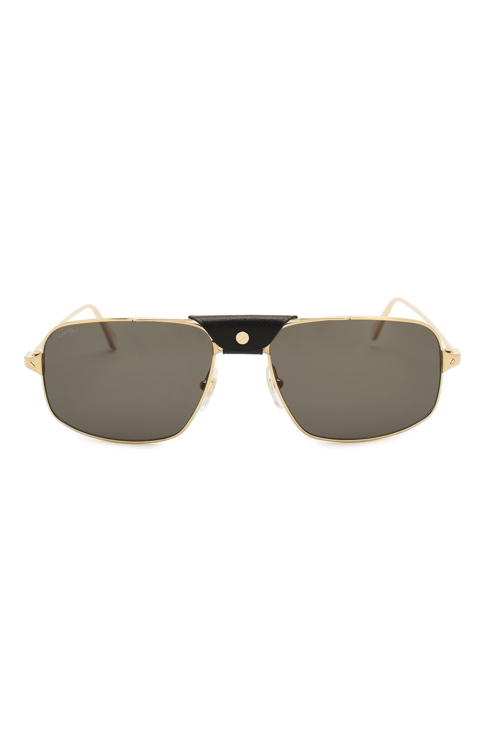 Мужские солнцезащитные очки CARTIER золотого цвета, арт. CT0193 001 | Фото 3