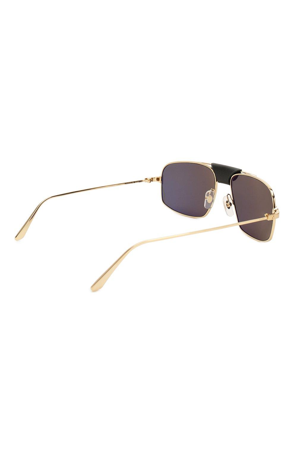Мужские солнцезащитные очки CARTIER золотого цвета, арт. CT0193 001 | Фото 4