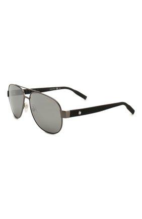 Мужские солнцезащитные очки MONTBLANC серого цвета, арт. MB0064 007 | Фото 1