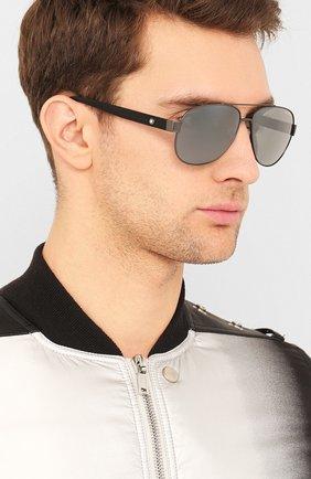 Мужские солнцезащитные очки MONTBLANC серого цвета, арт. MB0064 007 | Фото 2