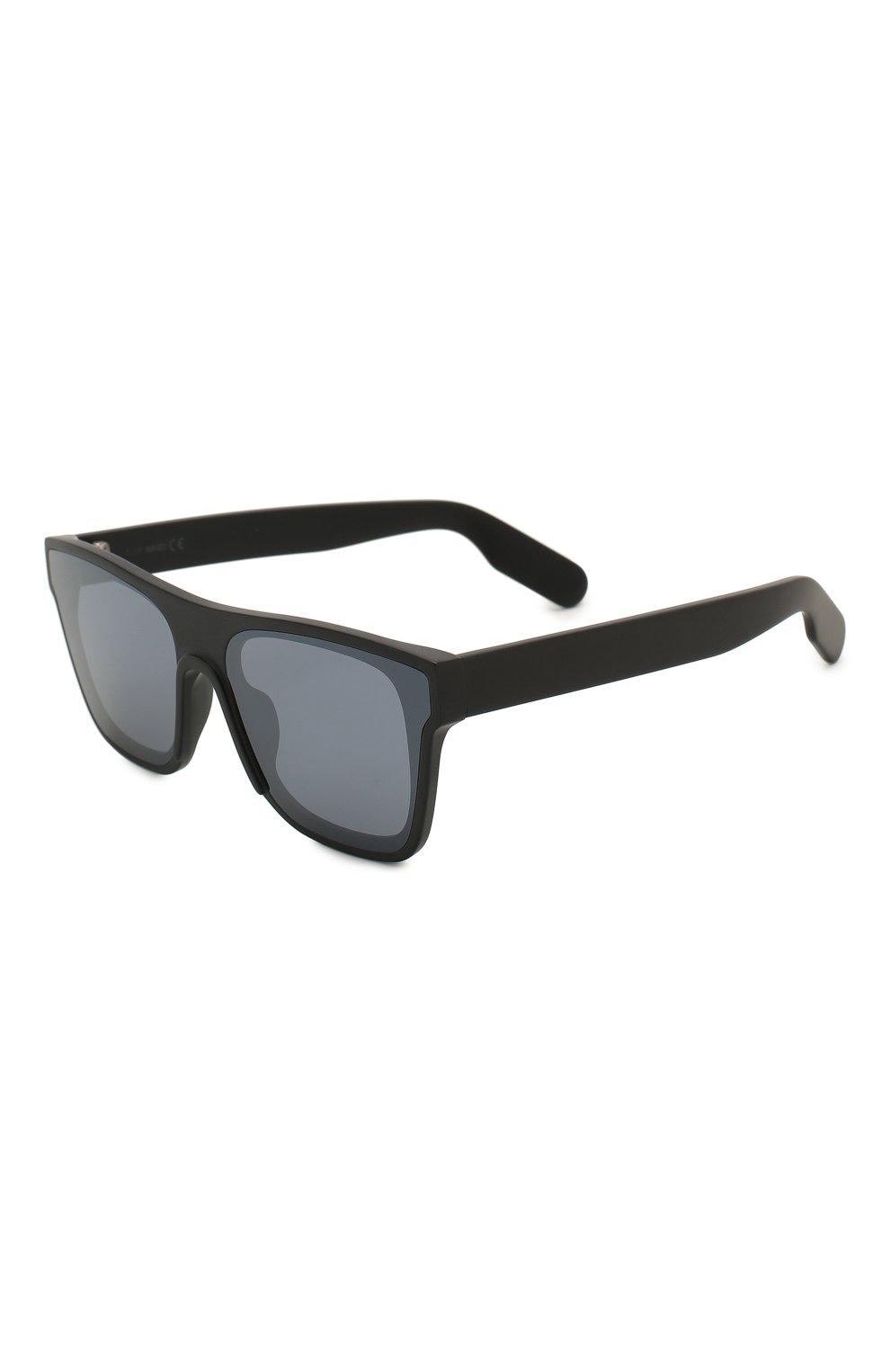 Мужские солнцезащитные очки KENZO черного цвета, арт. KZ40018U 02C   Фото 1
