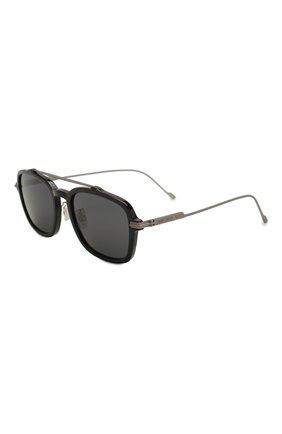 Мужские солнцезащитные очки JIMMY CHOO черного цвета, арт. KEVIN 807 | Фото 1