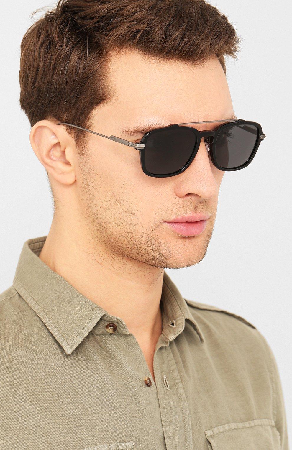 Мужские солнцезащитные очки JIMMY CHOO черного цвета, арт. KEVIN 807 | Фото 2