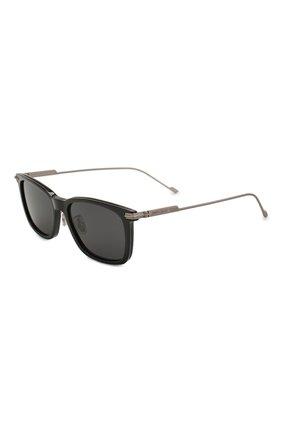 Мужские солнцезащитные очки JIMMY CHOO черного цвета, арт. RYAN 807 | Фото 1