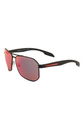 Мужские солнцезащитные очки PRADA LINEA ROSSA черного цвета, арт. 51VS-DG09Q1 | Фото 1
