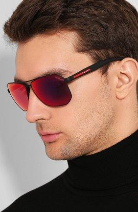 Мужские солнцезащитные очки PRADA LINEA ROSSA черного цвета, арт. 51VS-DG09Q1 | Фото 2