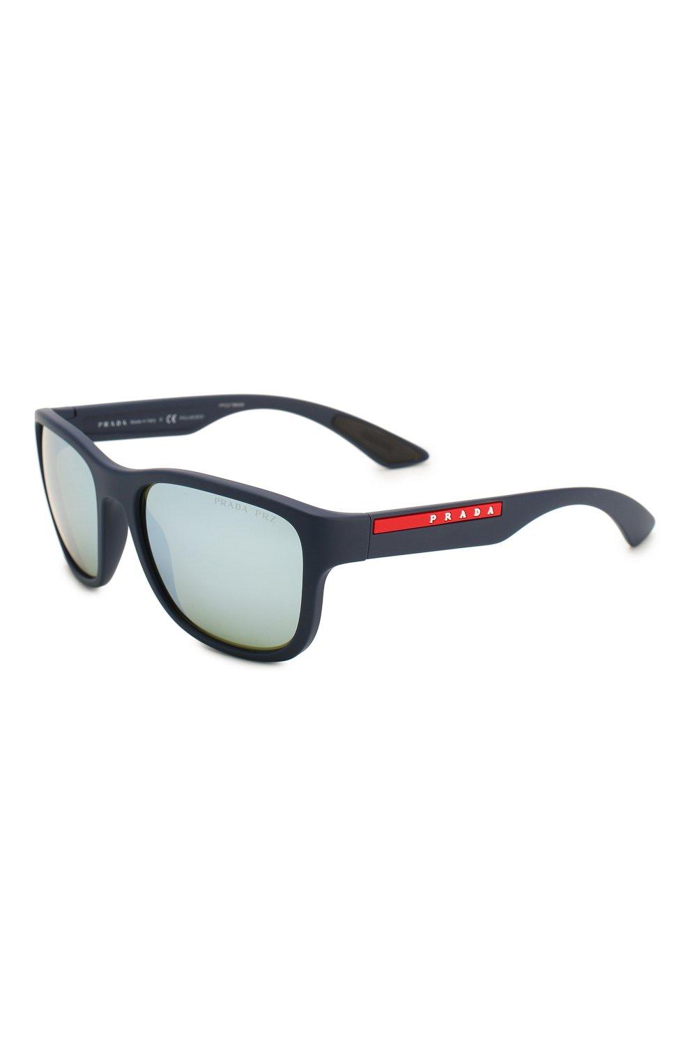 Мужские солнцезащитные очки PRADA LINEA ROSSA синего цвета, арт. 01US-TFY740   Фото 1