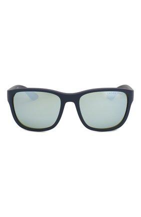 Мужские солнцезащитные очки PRADA LINEA ROSSA синего цвета, арт. 01US-TFY740   Фото 3