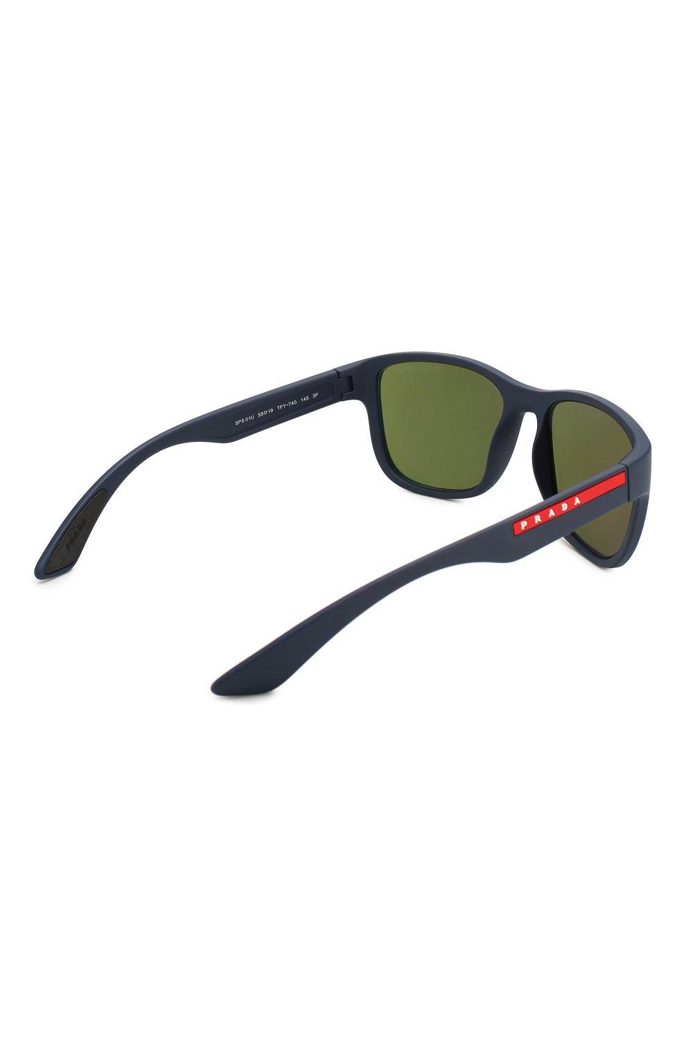 Мужские солнцезащитные очки PRADA LINEA ROSSA синего цвета, арт. 01US-TFY740   Фото 4