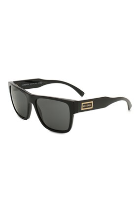 Мужские солнцезащитные очки VERSACE черного цвета, арт. 4379-GB1/87 | Фото 1