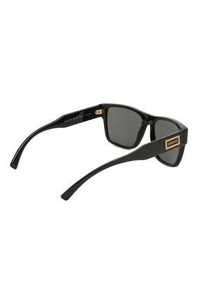 Мужские солнцезащитные очки VERSACE черного цвета, арт. 4379-GB1/87 | Фото 4