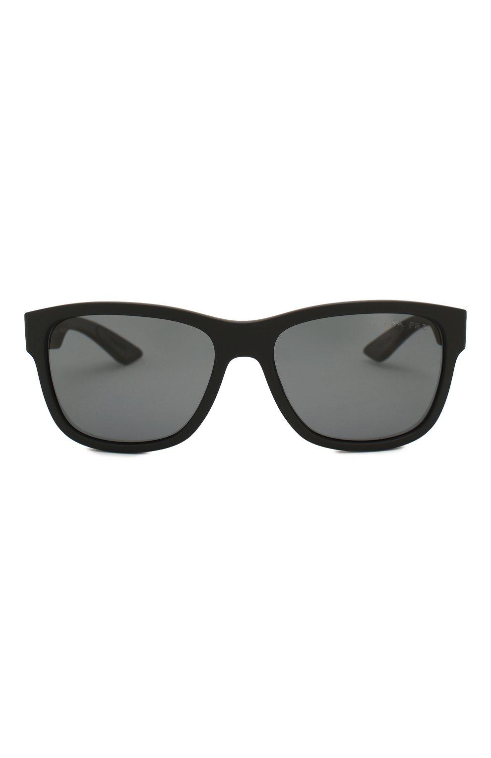 Мужские солнцезащитные очки PRADA LINEA ROSSA черного цвета, арт. 03QS-DG05Z1 | Фото 3