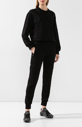Женские кожаные кеды portofino DOLCE & GABBANA черного цвета, арт. CK1544/AJ609 | Фото 2