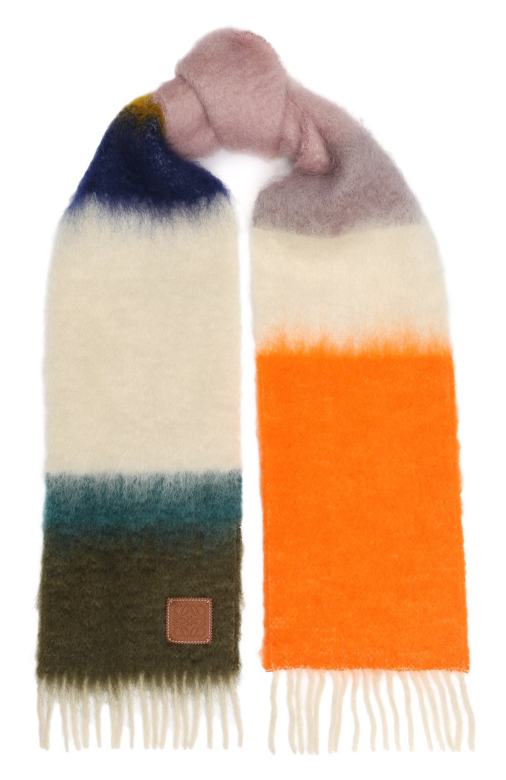 Женский шерстяной шарф LOEWE разноцветного цвета, арт. 929.29.226 | Фото 1