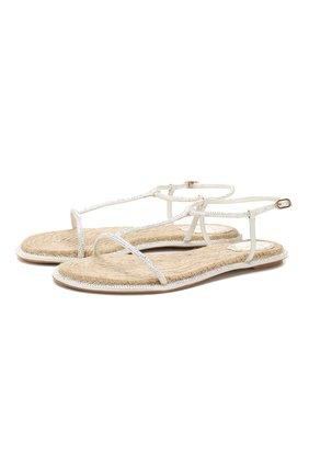 Женские сандалии diana RENE CAOVILLA белого цвета, арт. C10421-010-R001X318 | Фото 1