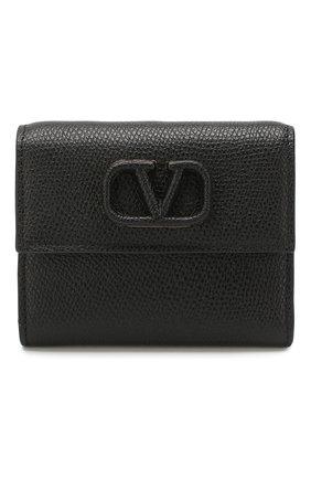 Женские кожаное портмоне valentino garavani VALENTINO черного цвета, арт. TW2P0T39/RQR | Фото 1