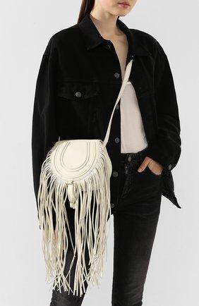 Женская сумка marcie CHLOÉ белого цвета, арт. CHC20SP580C33 | Фото 2