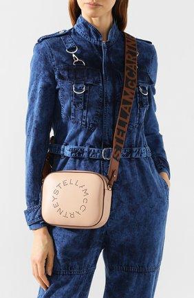 Женская сумка stella logo mini STELLA MCCARTNEY светло-розового цвета, арт. 700072/W8542 | Фото 2